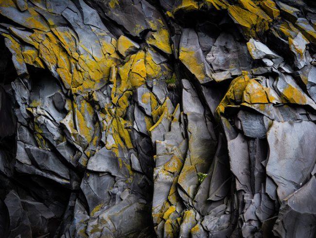 Roche grise et jaune - ardoise